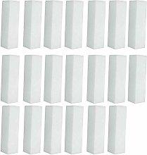 Ogquaton 20 Pieces White Nail Art Buffer Buffing