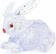 Ogquaton 3D Crystal Puzzle Cute Rabbit Model DIY