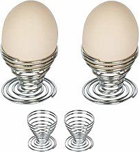 Ogquaton 4 Pcs Egg Cup Wire Tray Rack Boiled Eggs
