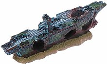 Ogquaton Aquarium Handmade Resin Ship Wreckage