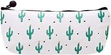 Ogquaton Cactus Pencil Case for Women Girls Zipper
