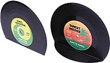 Ogquaton Creative Vinyl Record Bookends Book Ends