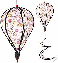 Ogquaton Flower Pattern Balloon Windmill Kid Toys,