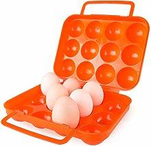 Ogquaton Folding Portable 12 Eggs Holder Egg