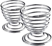 Ogquaton Metal Egg Cup Spiral Kitchen Breakfast