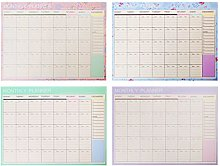 Ogquaton Monthly Paper Pad 20 Sheets DIY Planner