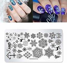 Ogquaton Nail Stamping, Chirsmas Theme Pattern