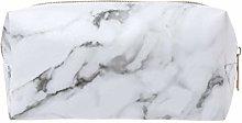 Ogquaton Pencil Case - White Marble Design -