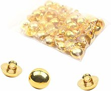 Ogquaton Rivet Nut, Dome Button Polished Gold