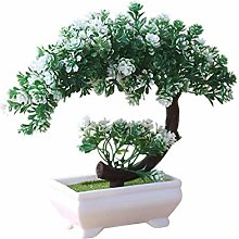 Ogquaton Simulation Fake Potted Bonsai Tree