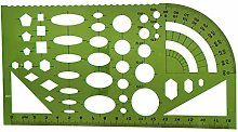 Ogquaton Template Rulers Plastic Measuring Ruler