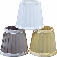 Ogquaton Vintage Fabric Pleated Lampshade Table