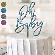 Oh Baby Shower Gender Reveal Boy Girl Cake Toppers
