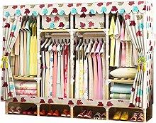 OH Closet Hanging Storage Rack Canvas Wardrobe