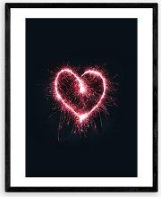 Oh Fine! Art - 'Hearts On Fire' Wood