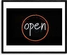 Oh Fine! Art - 'Open' Wood Framed Print,