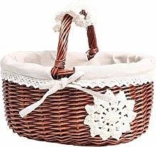 OH Kitchen Storage Hamper Egg Basket Lined with