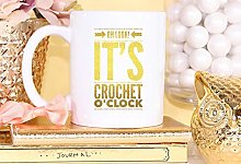 Oh Look Its Crochet O'Clock - White Ceramic