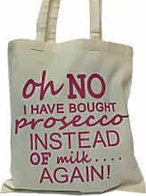 Oh No I Have Bought Prosecco Shopping Bag (Natural
