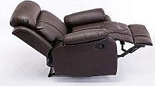 OH Tilt Recliner Armchair Push Back Single Sofa Pu