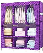 OH Wardrobe Cupboard Hanger Rack with Side Pockets