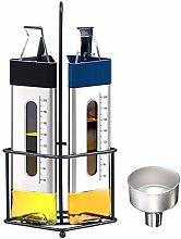 Oil and Vinegar Dispenser Set with Caddy,Olive Oil