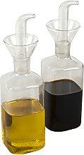 Oil and Vinegar Glass Dispenser Bottle - Set of 2
