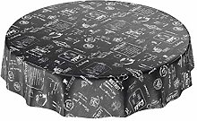 Oil Cloth Round Tablecloth Waxed Tablecloth