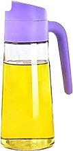 Oil Dispenser,Auto Flip Olive Oil Glass Bottle,