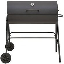 Oil Drum Barbecue Bbq With Cover