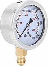 Oil Filled Pressure Gauge 1/4BSP Transparent Dial