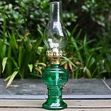 Oil Lamp, Glass Kerosene Lamp, 33Cm Height Indoor