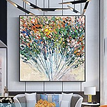 Oil Painting On Canvas,Abstract 3D Flower Art
