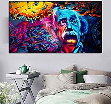 Oil Painting Portrait Poster Abstract Canvas