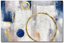 Oil Paintinghand Painted On Canvas Modern Blue