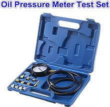 Oil Pressure Meter Test Tool Set Gauge Tester