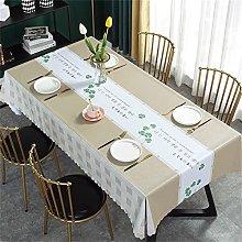 Oil-Proof Tablecloth Clover Pattern Rectangular