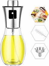 Oil Spray Bottle for Cooking 200ml with Brush and