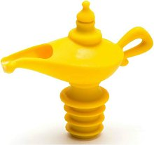 Oiladden   Silicone pourer and stopper, yellow, 8