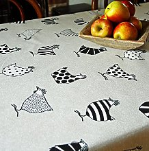 Oilcloth tablecloth high quality low sheen guinea