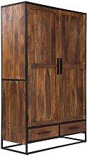 Oklahoma 2 Door Wardrobe Massivum Colour: Dark