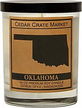 Oklahoma Kraft Label Scented Soy Candle, Citrus,