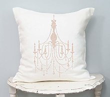 Ol322ay Shabby Chic Pillow Cover Chandelier Art