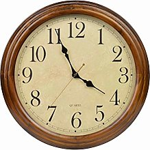Old Oak 16-Inch Solid Wood Silent Non-Ticking