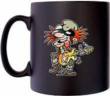 Old Rocker Guitar Player Rock Music Klassek Coffee