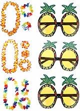 Olgaa 12 Pieces Hawaiian Lei Flower Garland Set