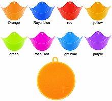 Olgaa 8 Colors Silicone Egg Poacher Cups Non-stick