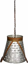 Olive Bucket Pendant Light Hanging E27 Lamp with