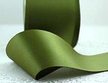 Olive Green Satin Ribbon - 50mm Wide - 5 Meter -