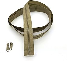 Olive Light Continuous Zip & Sliders No. 3 Zippers